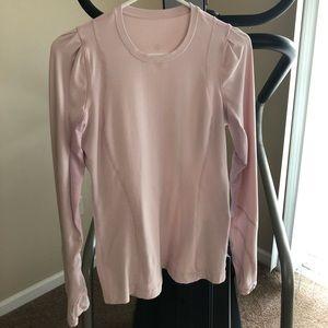Lululemon light pink long sleeve shirt
